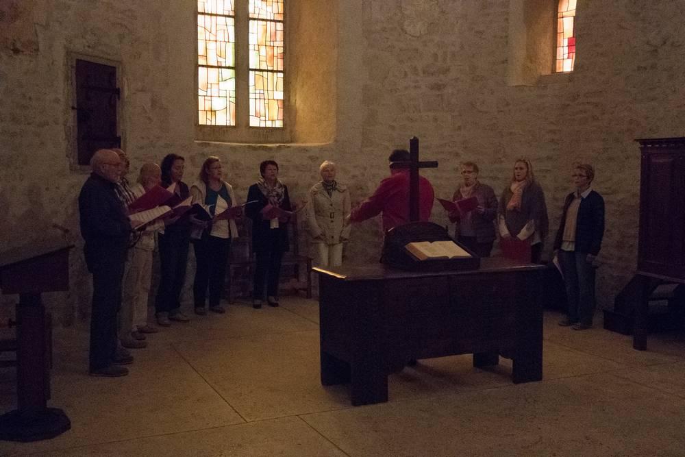 chants dans l'église de St.-Sulpice lors de la sortie 2016